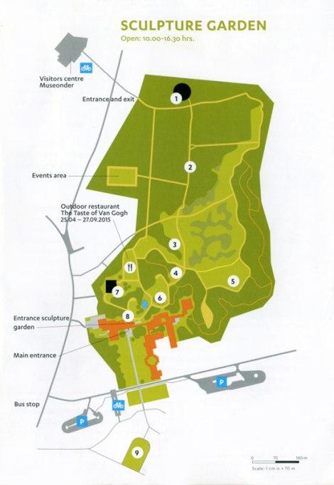 Kroller Muller Museum Sculpture Garden Map