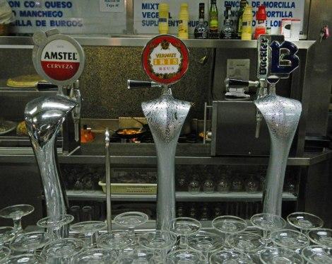 Taps in a Madrid Cerveceria