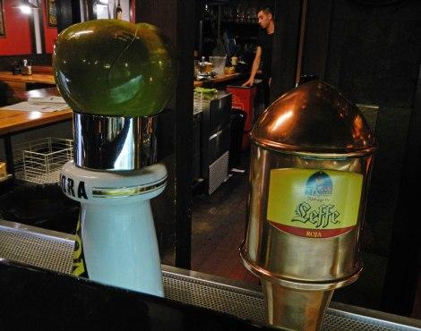 Santiago de Compostela's La Industrial Beer and Cider Taps