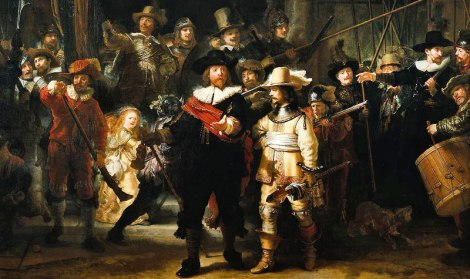 The Nightwatch by Rembrandt detdetail