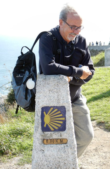 Finisterre, a Pilgrim at Km 0 of El Camino de Santiago