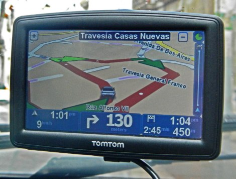 Our GPS went squirrelly in Mondoñedo