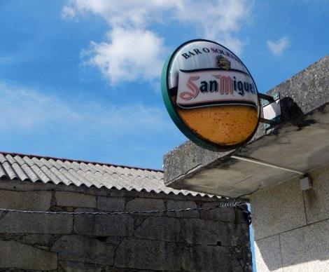 San Miguel Beer sign in Village