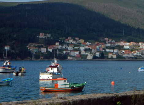 A Town on the Galician Coast of Spain