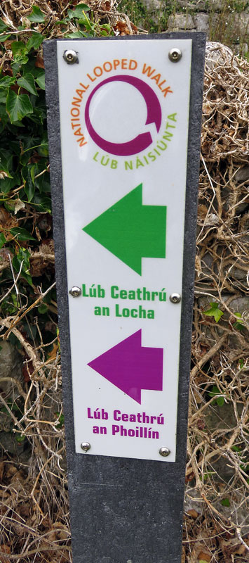 A Looped Walks Sign on the Smallest Aran Island