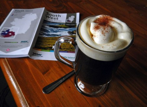 An Irish Coffee in the Ardgroom Village Inn Pub
