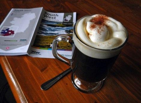 An Irish Coffee in the Ardgroom Village Inn Pub