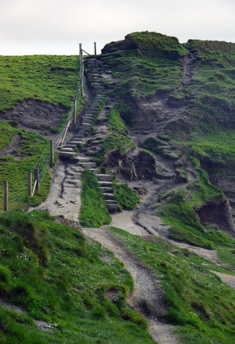 Cliffs of Moher Stairs on a Public Walking Trail