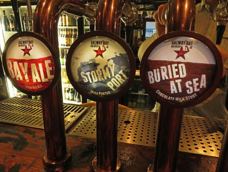 Some Galway Bay Beer Taps at the Black Sheep Pub in Dublin