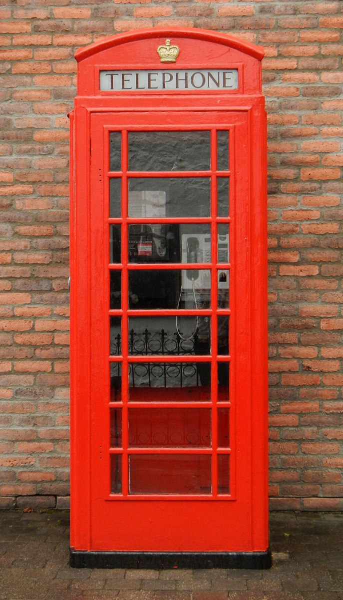 The British Red Telephone Booth in Ireland, UK
