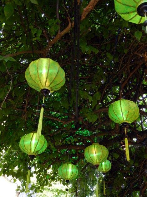 Green Lanterns in Hoi An, Vietnam