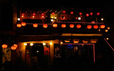 The standard array of lanterns on every shop and restaurant in Hoi An, Vietnam
