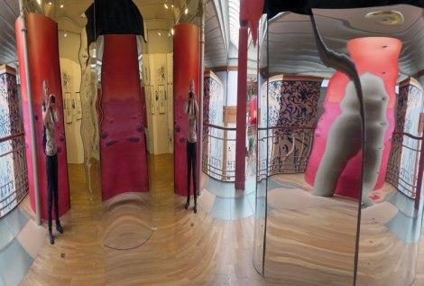 A Fun House Mirror in Brussel's Comic Book Museum