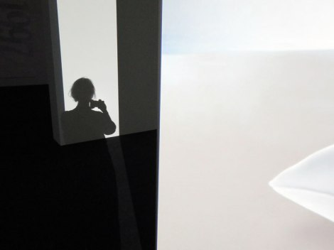 A Batz shadow in the Modern Art Museum in Amsterdam