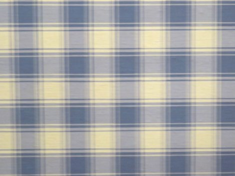 A huge painting of a piece of plaid fabric in Amsterdam's Modern Art Museum