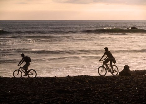 Bikes on the beach at Ostional in Costa Rica