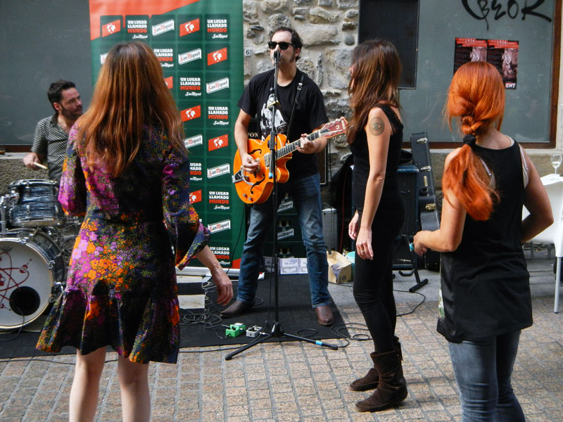 Bilbao street party on the 'Dia de Fiesta Nacional''