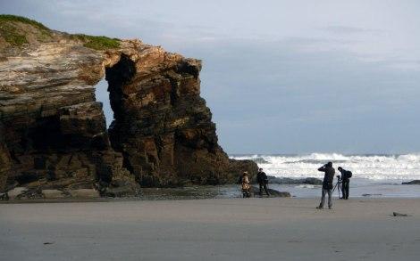 The waves have carved these fantastical rock formations at the 'Playa de las Catedrales' in northern Spain