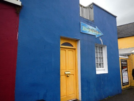 Brightly Colored Cafe in Dingle. Ireland