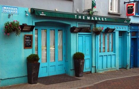 Bright Blue Shop in Kinsale, Ireland