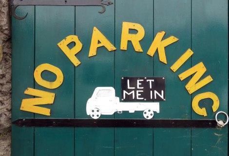 No Parking in Kinsale, Ireland