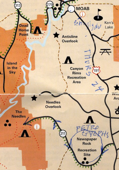 How to get to the 'Newspaper Rock' petroglyphs