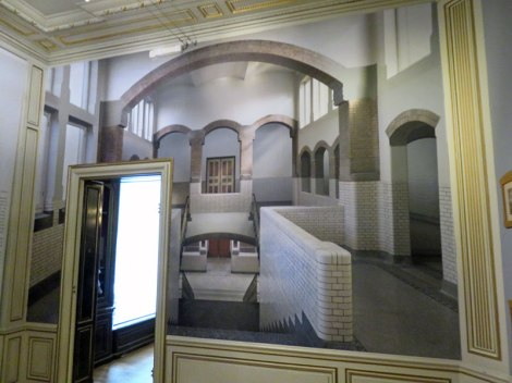 One of Escher's inspirations was his old school, room-size photos of which have been added to the walls of the museum