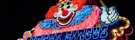 Las Vegas' Circus Circus Neon Clown Sign