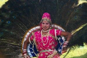 Peacock Dancer at the Jaipur Elefant Festival