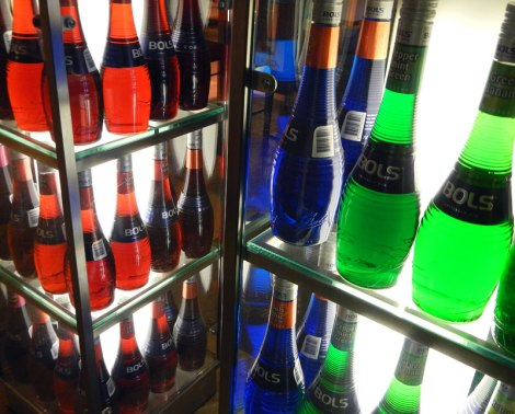 Bols Liquor Display at the Amsterdam Airport