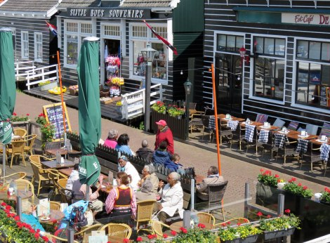 a Café on Marken's waterfront (Holland)