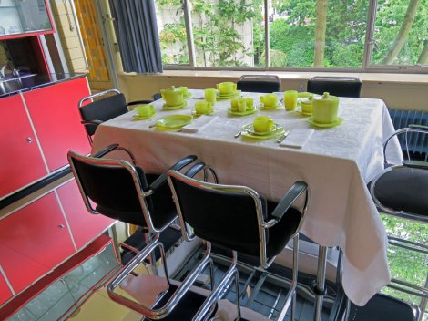 Lime Green Dining Set in the Dining Room in the Sonneveld House in Rotterdam, Holland
