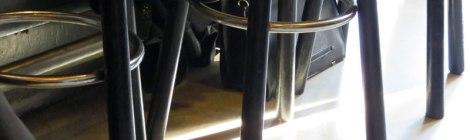 Bar stools in the Cafe Belgie Pub