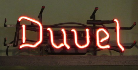 Duval beer neon sign at the Ledig Erf Pub in Utrecht, Holland