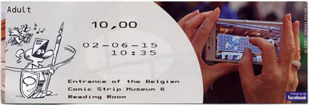 Ticket to the Belgian Comic Strip Centre in Brussels, Belgium