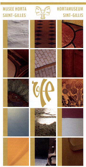 Booklet on the Musee Victor Horta showing some of the Art Nouveau details of his home turned museum in Brussels, Belgium