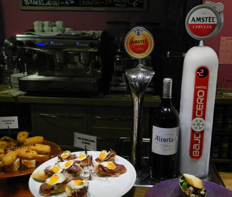 Pinchos at a Bilbao bar, Spain
