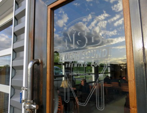 The entrance to the North Sound Brewing Co. near Mt Vernon, Washington