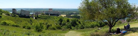 Panorama of Chateau Gaillard Ruins
