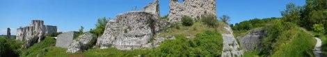 Panorama of Chateau Gaillard Ruins
