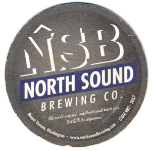 North Sound Brewing Beer Coaster