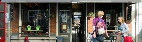 Cafe Lijn 4 pub in Utrecht, Holland