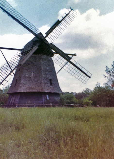 1965 trip to Denmark: first photos: a windmill