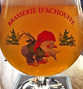 A La Chouffe beer at Heen & Weer Pub in Utrecht