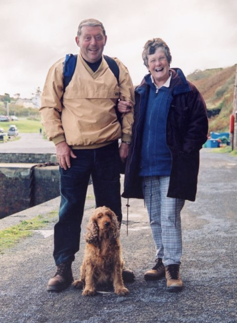 Welsh couple who gave us their walking book.