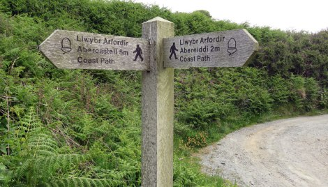 Welsh Coastal Trail 'footpath' sign