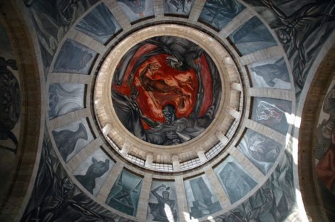 Orozco's painted ceiling of the Hospicio Cabañas Cultural Center in Guadalajara