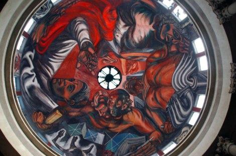 Orozco's painted ceiling of the Hospicio Cabañas Cultural Center in Guadalajara
