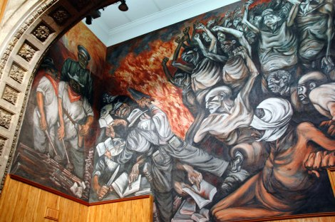 Orozco's murals on the walls of the Hospicio Cabañas Cultural Center in Guadalajara