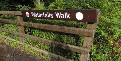 Waterfalls Walk in the Antrim Glens, Northern Ireland, UK